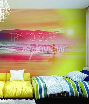 Fototapete Versuchen Sie, Surf