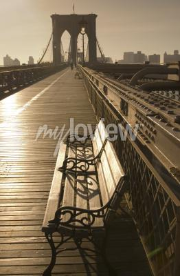 Poster Brooklyn-Brücke in Sepia