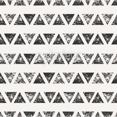 Fototapete Zusammenfassung nahtlose Muster mit gestempelten dreieckigen Formen