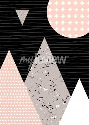 Fototapete Punktmuster und geometrische Elemente