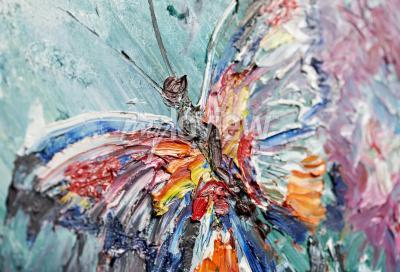 Bild Closeup Fragment der Ölmalerei Schmetterling