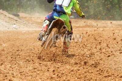 Fototapete Schmutz von einem Motocross-Rennen
