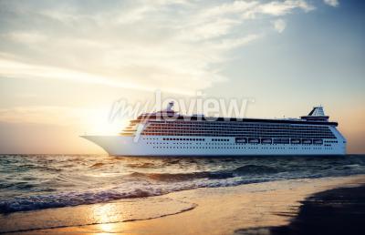Fototapete Yacht Kreuzfahrtschiff Sea Ocean Tropical Scenic Concept