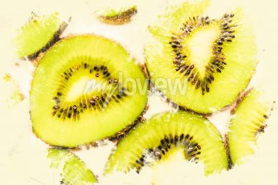 Bild Kreative Lebensmittelkunst auf Scheiben Kiwis