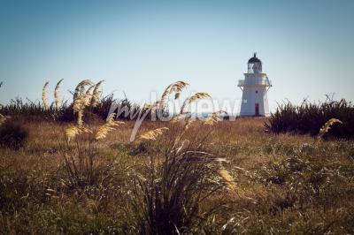 Fototapete Historischer Leuchtturm am Waipapa Point Catlins Neuseeland