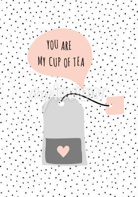 Bild Nachricht Du bist meine Tasse Tee