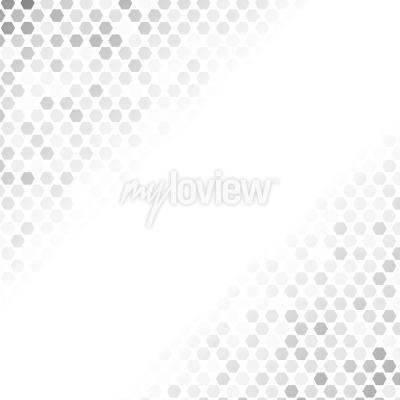 Sticker Abstraktes graues Muster