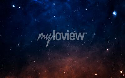 Fototapete Starfield im Weltraum viele Lichtjahre weit von der Erde