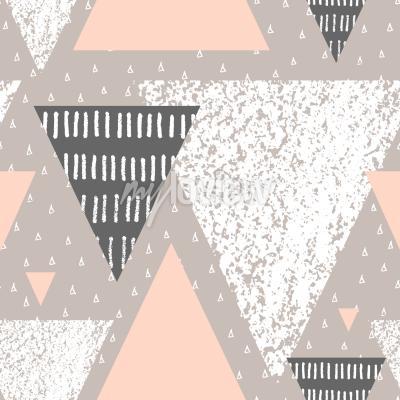 Fototapete Zusammenfassung geometrischen nahtlose wiederholung Muster in weiß grau und Pastell rosa
