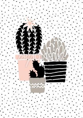 Fototapete Skandinavischen Stil Illustration