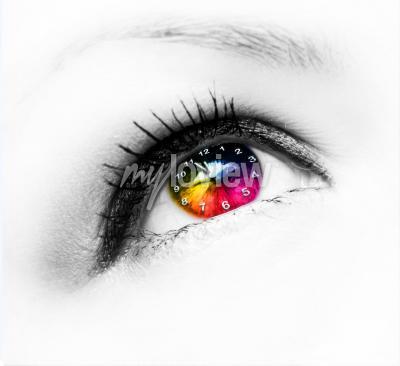 Bild Uhr im Auge