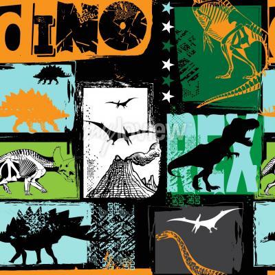 Fototapete Originaldesign mit T-Rex Dinosaurier