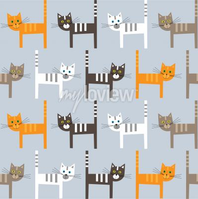 Fototapete Cats pattern