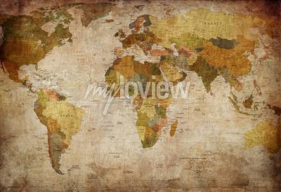 Fototapete Old map of the world