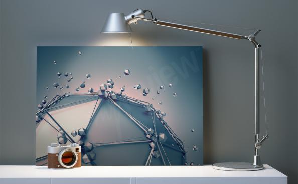 3D Bild - Geometrie für Wohnzimmer
