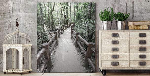 3D-Bild mit Wald