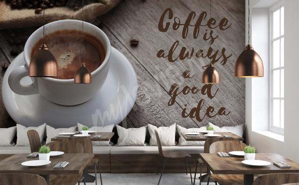 3D-Fototapete Kaffeetasse