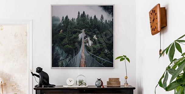 Poster Waldlandschaft