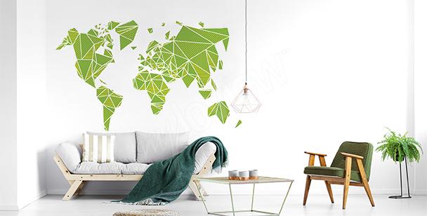 3D-Sticker mit Weltkarte