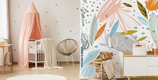 Abstrakte Fototapete fürs Kinderzimmer