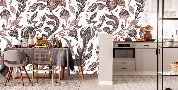 Fototapete Stickerei fürs Wohnzimmer