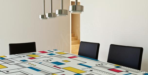 Abstrakter Sticker für den Tisch