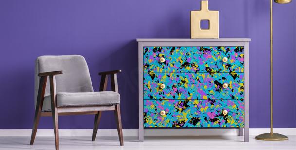 Abstrakter Sticker Pop-Art