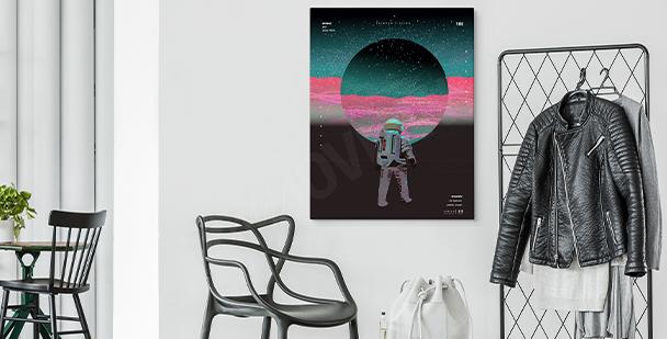 Abstraktes Bild Weltraum