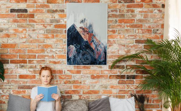 Abstraktes Poster Berge