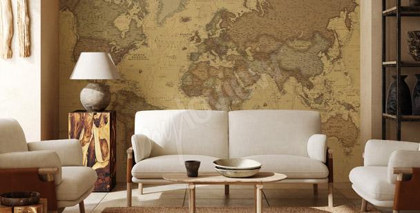fototapeten weltkarte gr e der wand. Black Bedroom Furniture Sets. Home Design Ideas