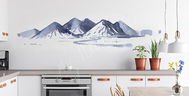 Aquarell-Sticker für die Küche
