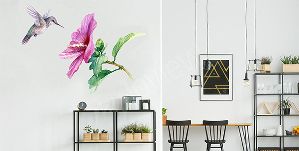 Aquarellsticker Kolibri
