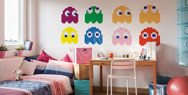 Aufkleber-Set mit Pac-Man