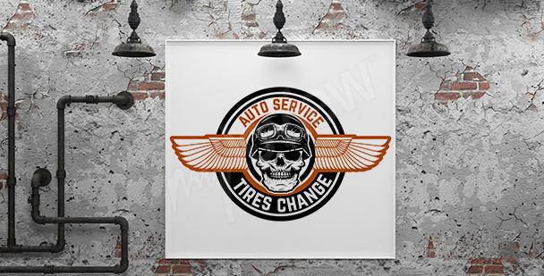 Autowerkstatt-Poster für die Garage