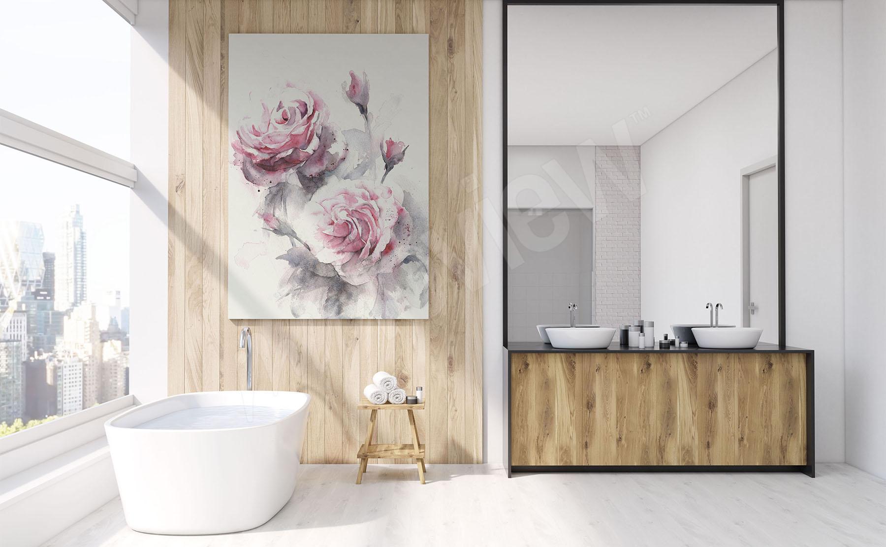 bilder bad • größe der wand   myloview.de, Badezimmer ideen