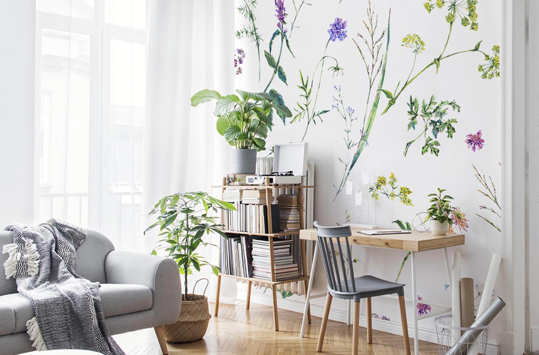 Fototapete Blumen und Kräuter