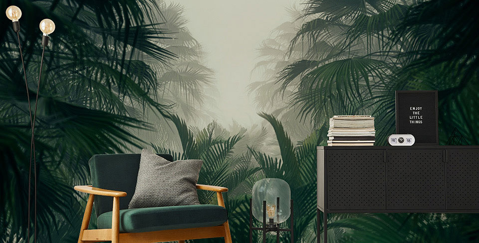 Fototapete geheimnisvoller Dschungel