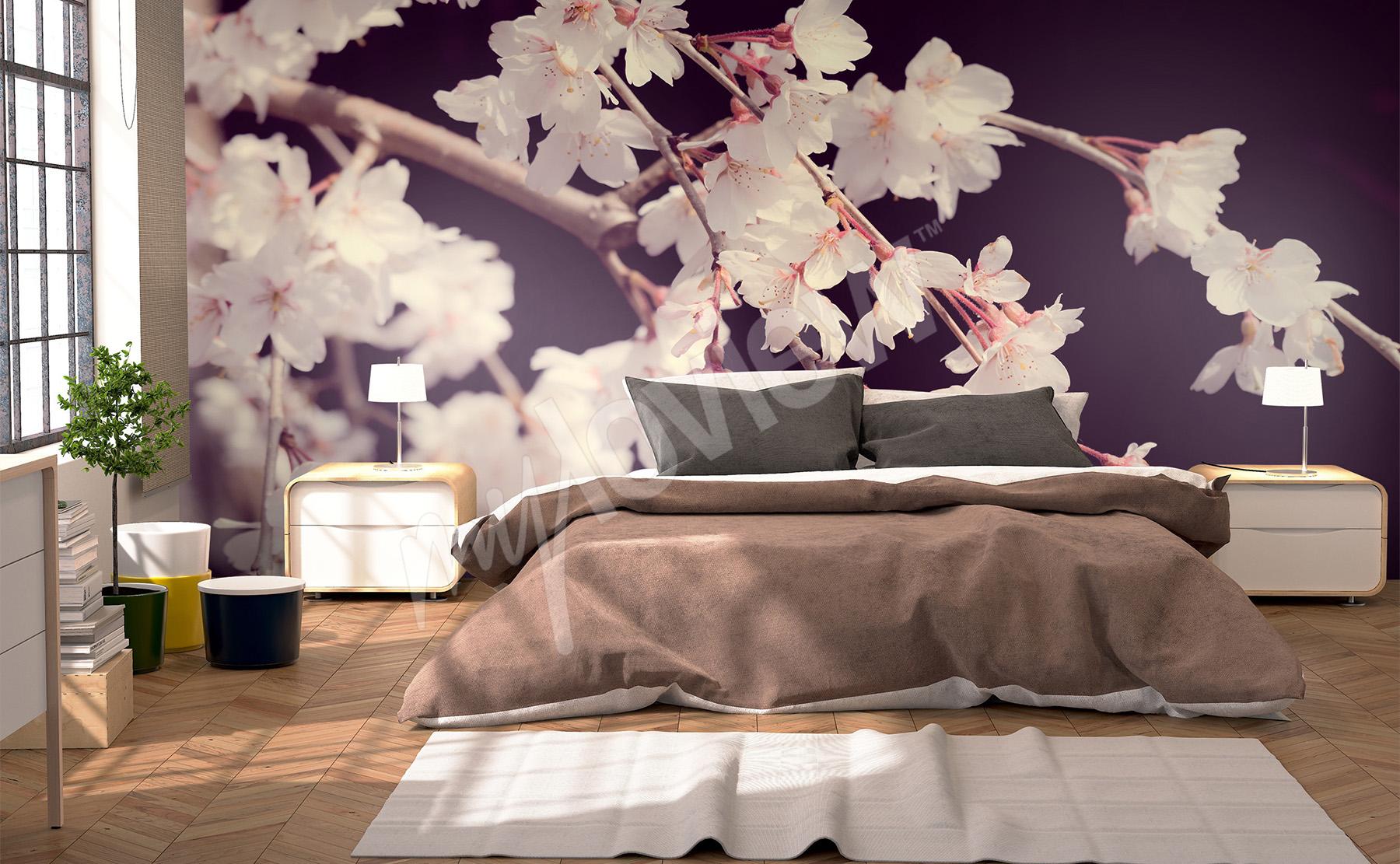 Zum Produkt · Fototapete Schlafzimmer 3D Blumen