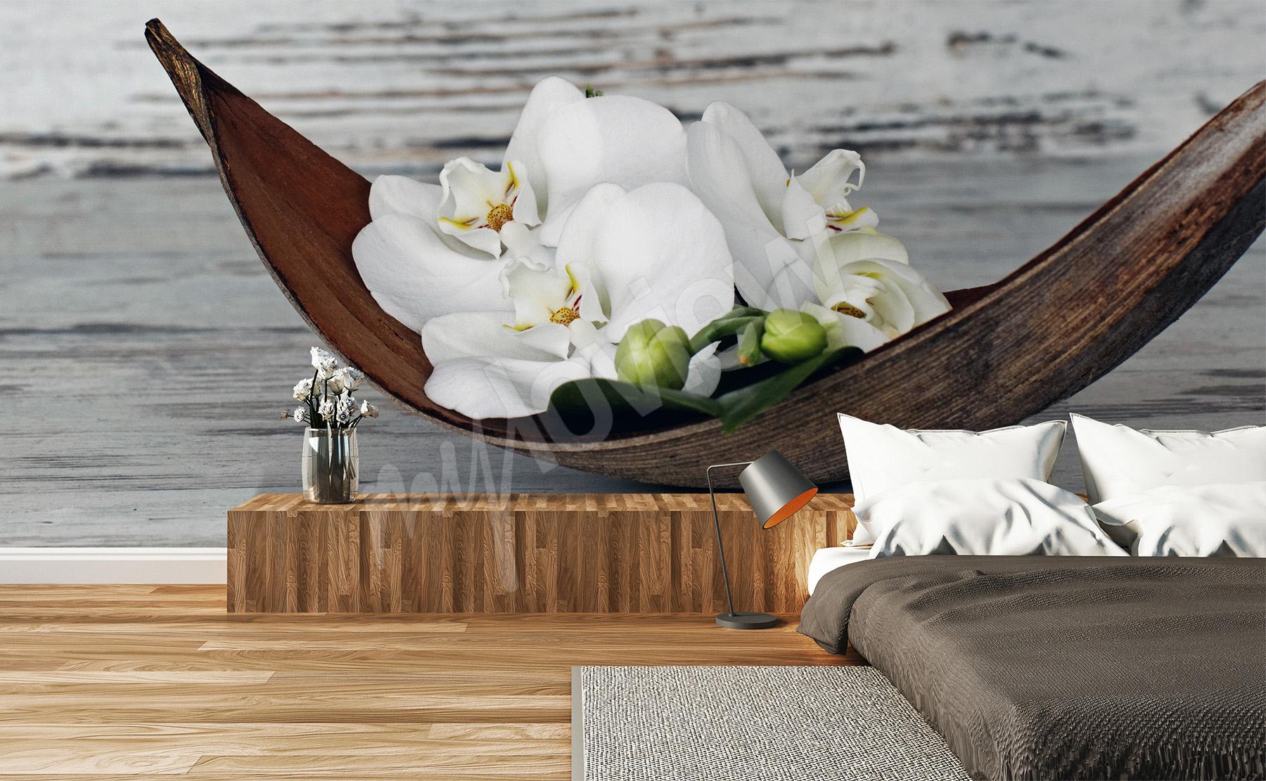 fototapeten orchidee gr e der wand. Black Bedroom Furniture Sets. Home Design Ideas