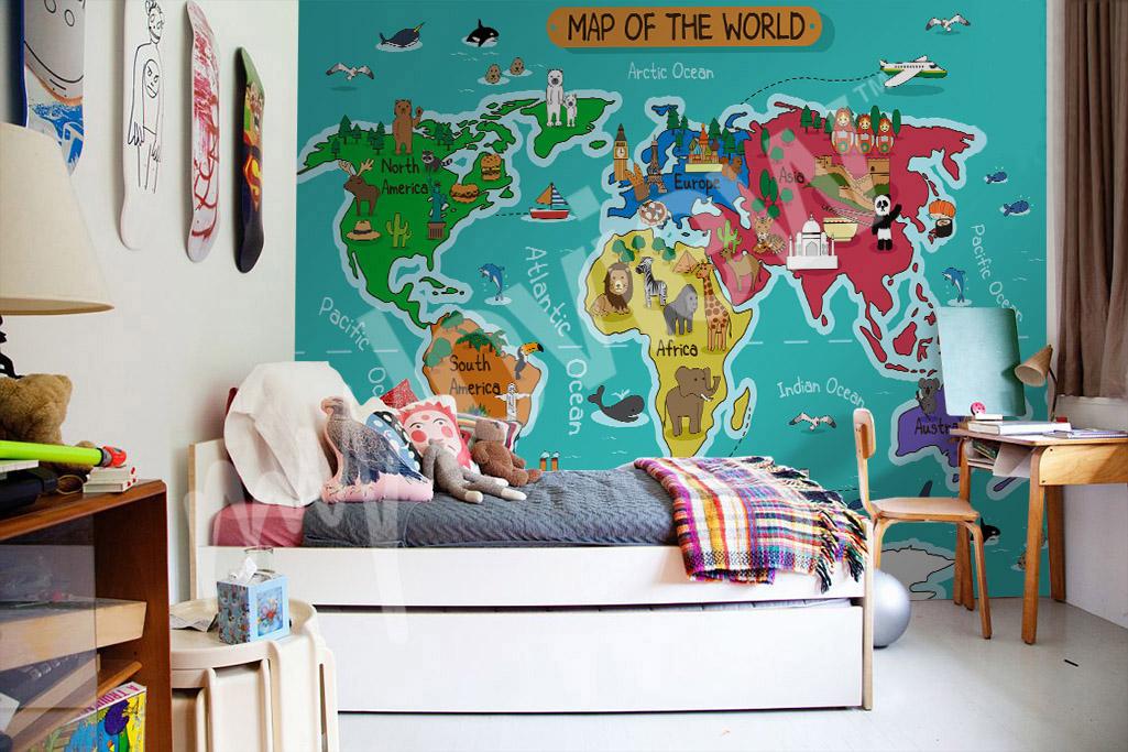 Artikel Fototapete Weltkarte Eine Weltkarte Fur Die Kleinen