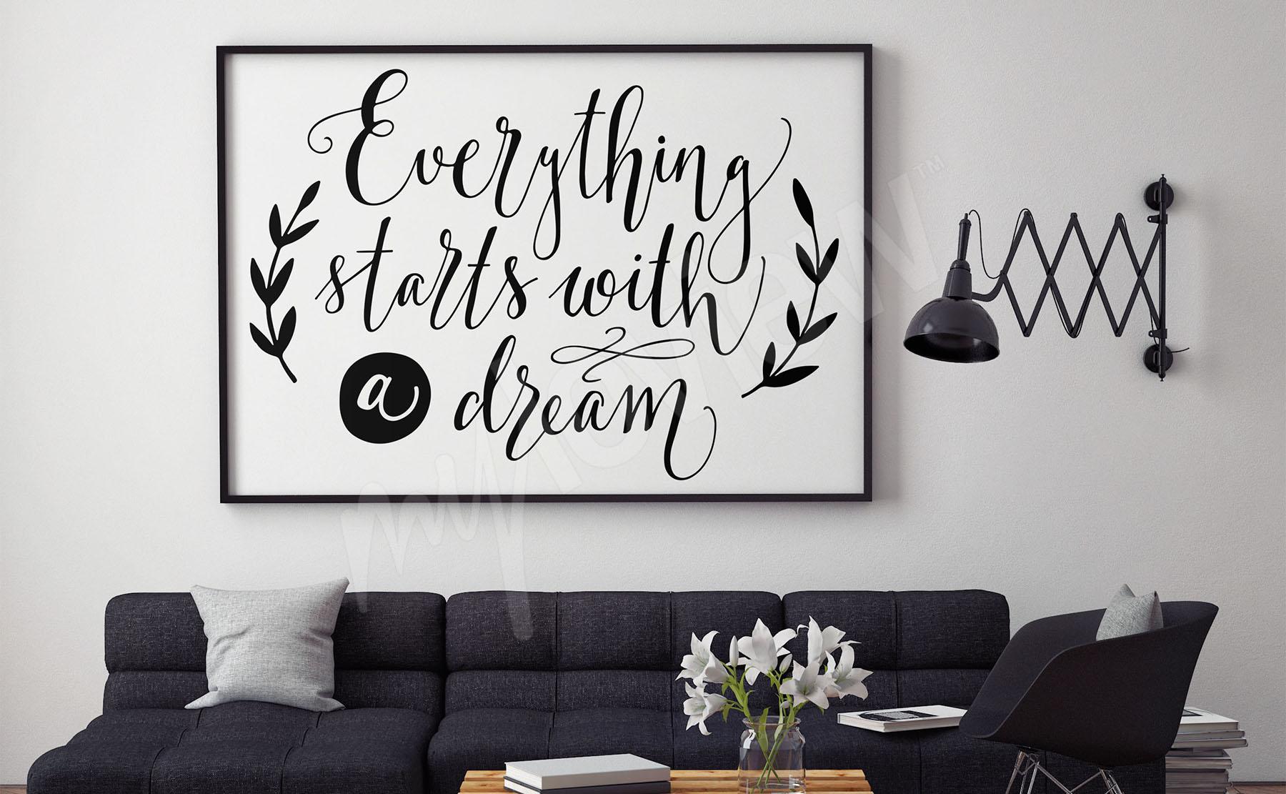 Poster Wohnzimmer • größe der wand | myloview.de