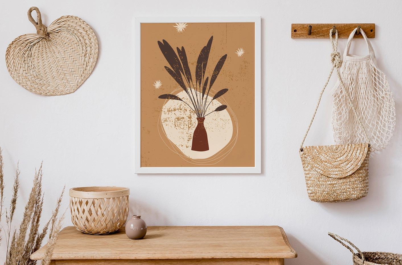 Poster Gräser in der Vase
