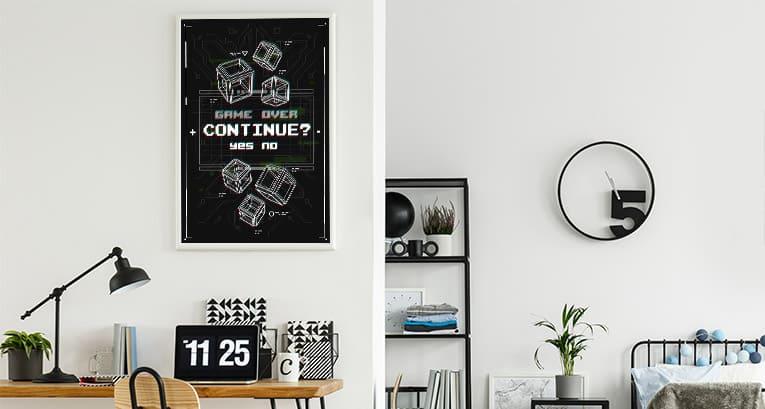 Wie bringt man Poster aus Spielen in ein Interieur? Tipps