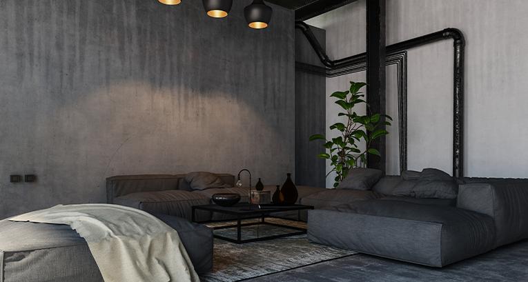 Rohre in der Wohnung zum Teil des Wohndesigns machen: Deko-Ideen