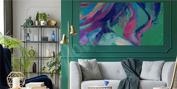 Bild abstrakte Farbtupfer