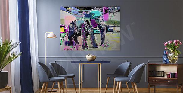Bild abstraktes Bild eines Elefanten