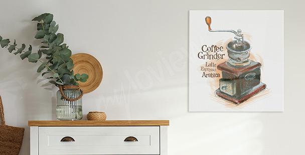 Bild alte Kaffeemühle