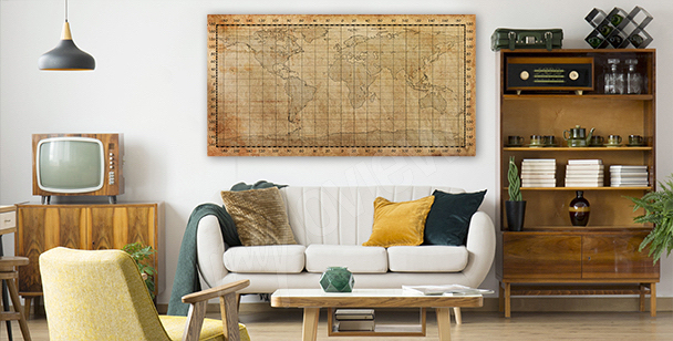 Bild alte Karte in Sepia