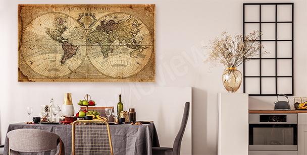 Bild alte Weltkarte