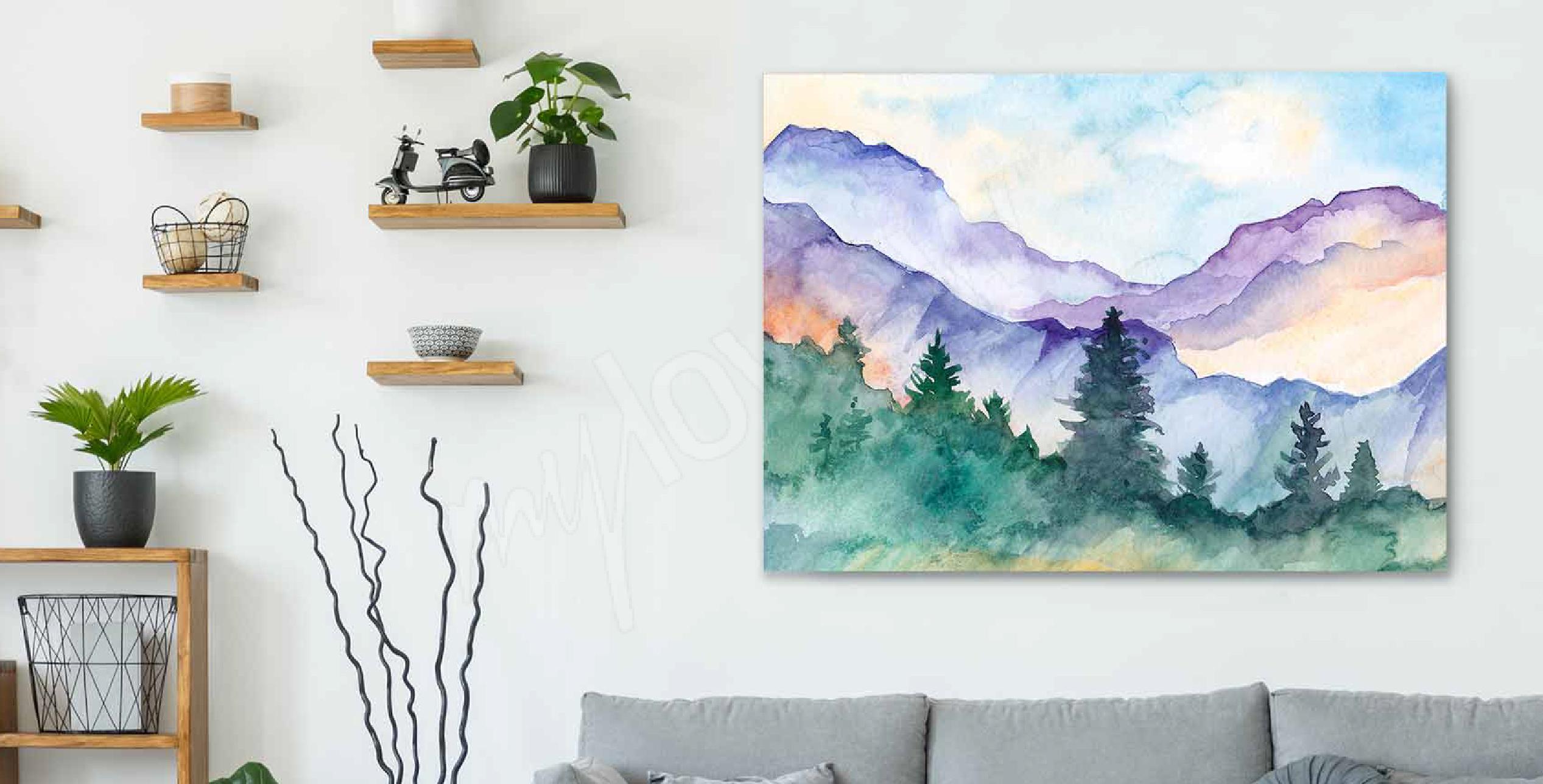 Aquarellbild fürs Wohnzimmer